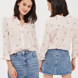 Topshop unicorn print shirt